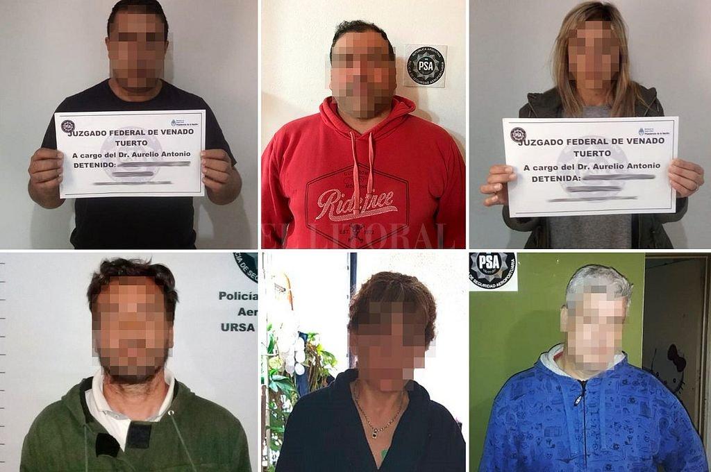 Miembros de la banda detenidos este miércoles. Ministerio de Seguridad de la Nación