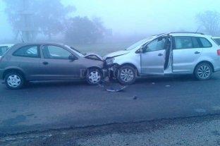 Choque frontal en la autopista Santa Fe - Rosario