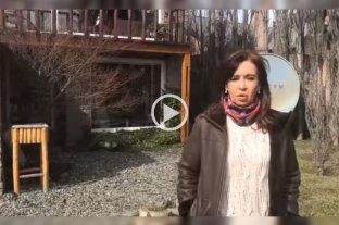 """Cristina habló desde su casa en El Calafate: """"En mi casa no hay subsuelos, vení"""""""