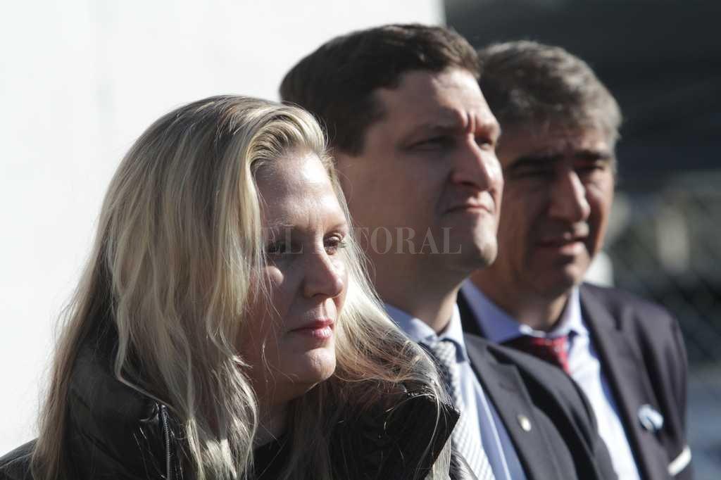 Verónica Geese y Maximiliano Neri fueron invitados a la Cámara de Diputados para evaluar la situación de la EPE. <strong>Foto:</strong> Mauricio Garín