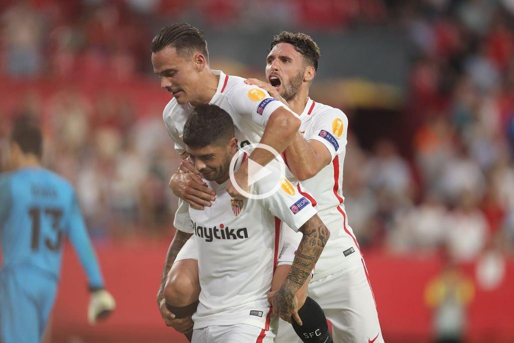Sevilla, Nápoli, Chelsea y Arsenal ganaron sus encuentros de Europa League
