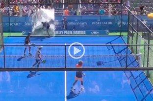 Video: tremendo golpazo en un partido de pádel