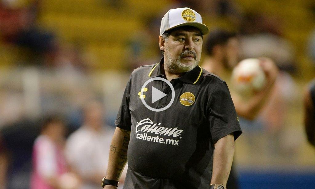 Maradona perdió su primer partido al mando de Dorados y se quejó del árbitro
