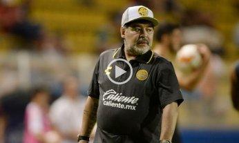Maradona perdió su primer partido al mando de Dorados y se quejó del árbitro -  -