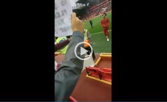 Sueño cumplido: Un niño consiguió la camiseta de su ídolo Mohamed Salah