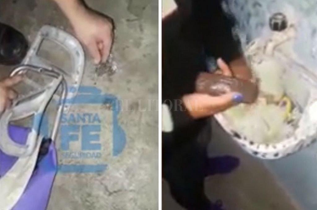 Videos: intentan ingresar un celular y drogas en las cárceles de Piñero y de Coronda