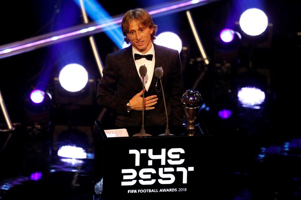 El croata Luka Modric fue elegido el mejor jugador del año por la FIFA