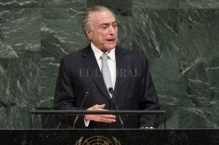 Temer advirtió ante la ONU sobre éxodo de venezolanos en Sudamérica