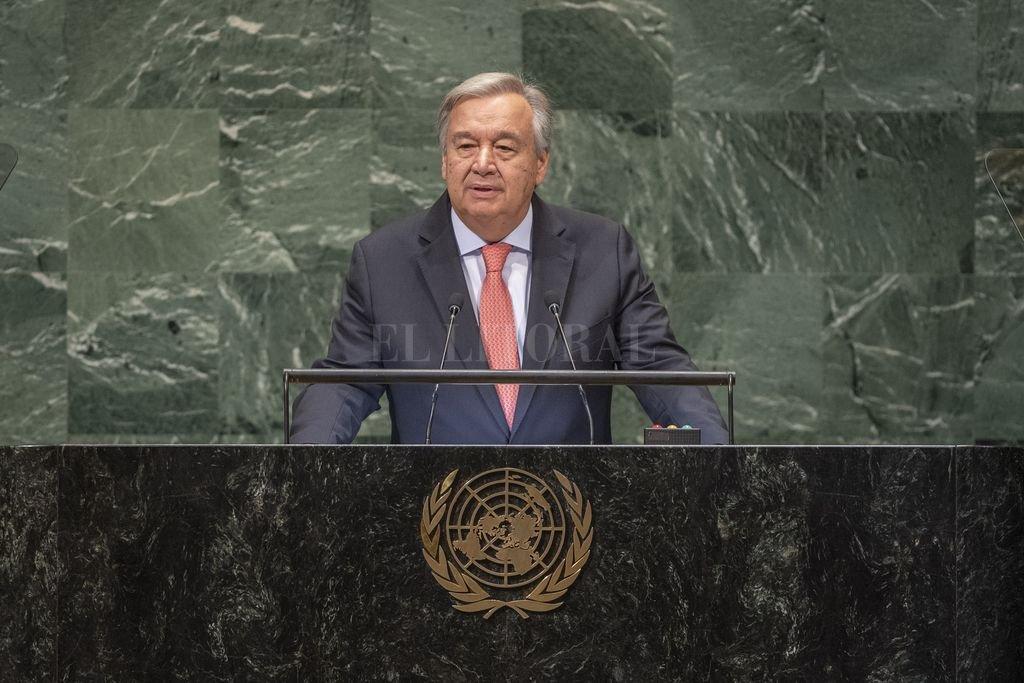 El secretario general de Naciones Unidas, Antonio Guterres, habla al comienzo de la Asamblea General de Naciones Unidas. <strong>Foto:</strong> dpa