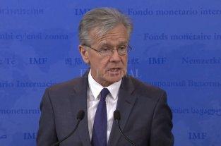 """FMI sobre Sandleris: """"Esperamos continuar nuestra estrecha relación con el Central"""" - El vocero principal del Fondo Monetario Internacional (FMI), Gerry Rice. -"""
