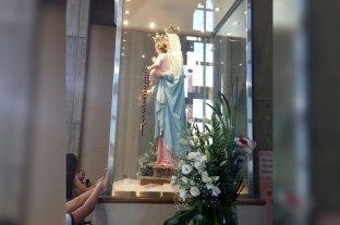Día de la Virgen de San Nicolás: el paro general impidió a peregrinos llegar al Santuario -  -