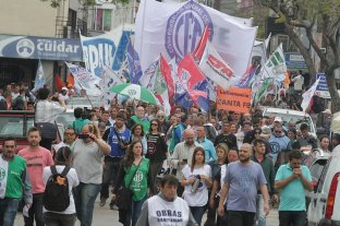 """Gremios se movilizaron también en la ciudad para rechazar """"el ajuste"""" -"""