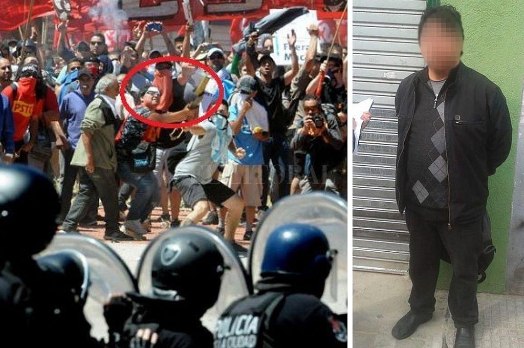 Detienen a dirigente de izquierda que era buscado por atacar con un mortero a las fuerzas de seguridad
