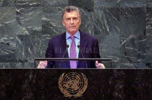 """En la ONU Macri dijo que Argentina está cambiando """"sin comprometer el futuro"""""""
