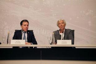 Dujovne anuncia junto a Lagarde el nuevo acuerdo con el FMI  - Dujovne anuncia junto a Lagarde el nuevo acuerdo con el FMI. -