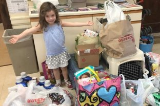 Florence, una niña que lleva el mismo nombre del huracán, inició campaña para ayudar a las víctimas