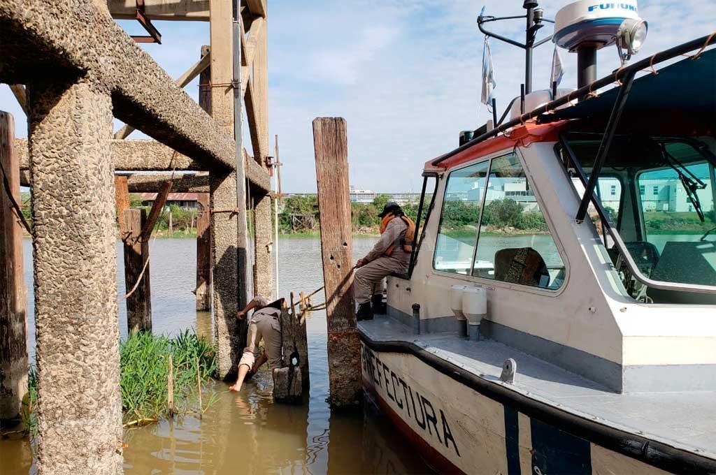 Por la bajante, el río apenas mide 1,86 metros en el Puerto de Santa Fe