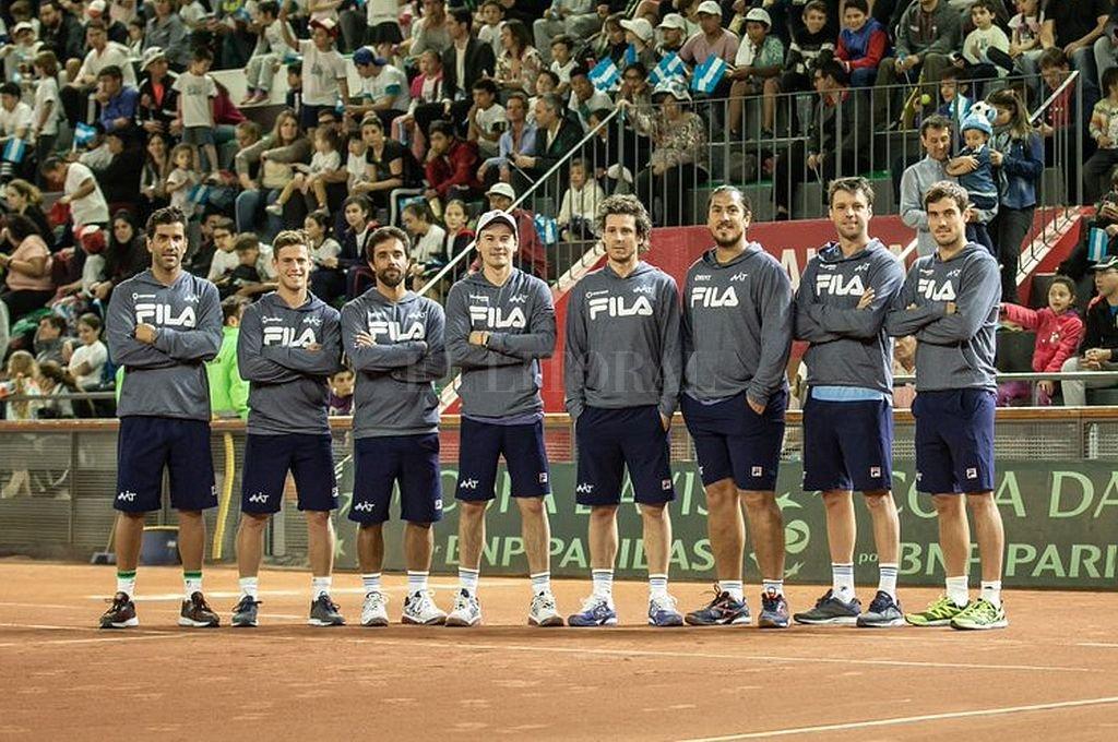 Equipo Argentino de Copa Davis. Crédito: AAT