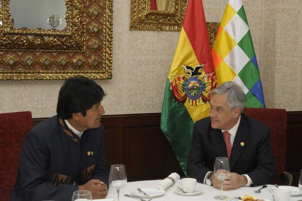 Evo Morales, presidente de Bolivia y Sebastián Piñera, presidente de Chile. Crédito: Internet