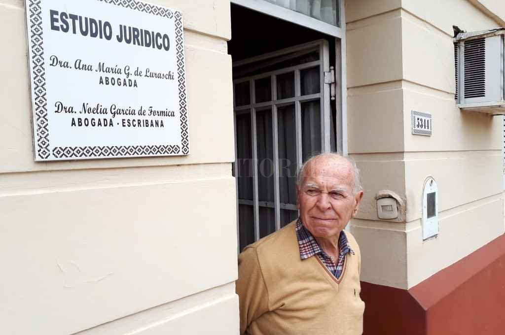 """Este barrio está cada vez más inseguro"", opinó Virginio Luraschi, la víctima. <strong>Foto:</strong> Danilo Chiapello"