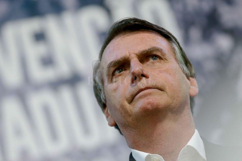 Jair Bolsonaro, en un acto de campaña electoral. <strong>Foto:</strong> Archivo