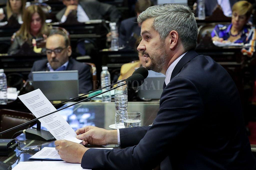 El jefe de Gabinete, Marcos Peña, respondió a una consulta en el Congreso al dar su informe de gestión y allí precisó datos de Ganancias. <strong>Foto:</strong> Agencia