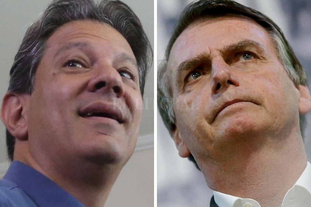Fernando Haddad y Jair Bolsonaro se perfilan para definir quién será sucesor de Temer en la segunda vuelta. Crédito: El Litoral