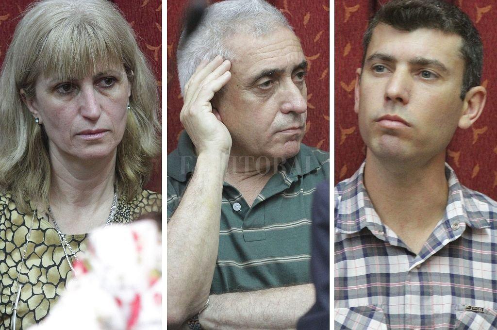 Norma Noemí Morandini, Víctor Hugo Baraldo y Juan Pablo Baraldo. Crédito: El Litoral / Luis Cetraro