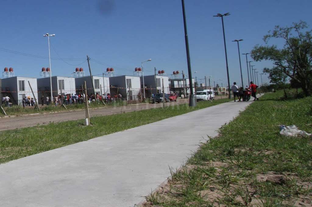 En 2017 se inauguraron viviendas en la zona <strong>Foto:</strong> Archivo El Litoral / Mauricio Garín