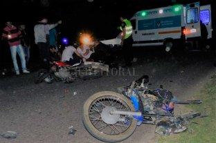 Tres motociclistas lesionados tras choque en la Ruta 1