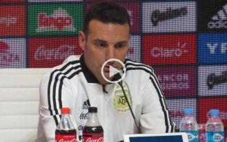 """Scaloni: """"Si no está Messi debemos intentar jugar como equipo"""""""