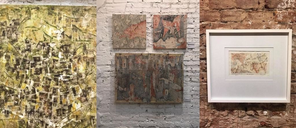 Obras de la artista Rosana Sdrigotti, expuestas en la Galería Made, ubicada en Sarmiento 3060.  Crédito: Gentileza Made