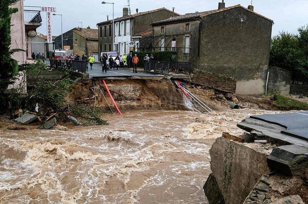 Al menos once muertos por inundaciones en el sur de Francia