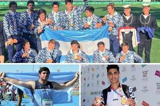 Argentina cosechó medallas de oro en rugby, lanzamiento de bala y volcadas