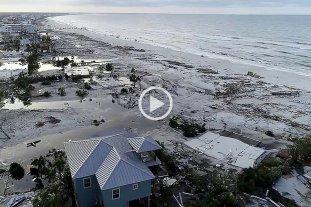 """Una playa de Florida quedó devastada tras el paso del huracán """"Michael"""""""