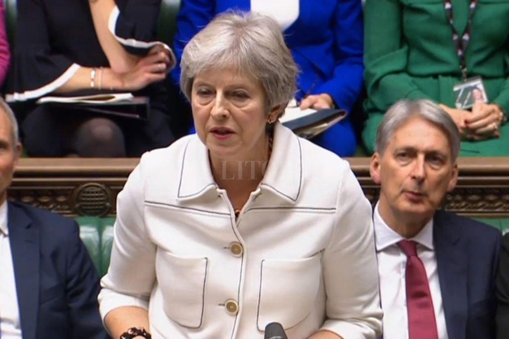 Reino Unido, Londres: La primera ministra británica, Theresa May, se pronuncia en la Cámara de los Comunes. May se mostró optimista sobre la evolución de las negociaciones sobre el