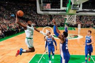 Celtics vencieron a los Sixers en arranque de temporada de la NBA