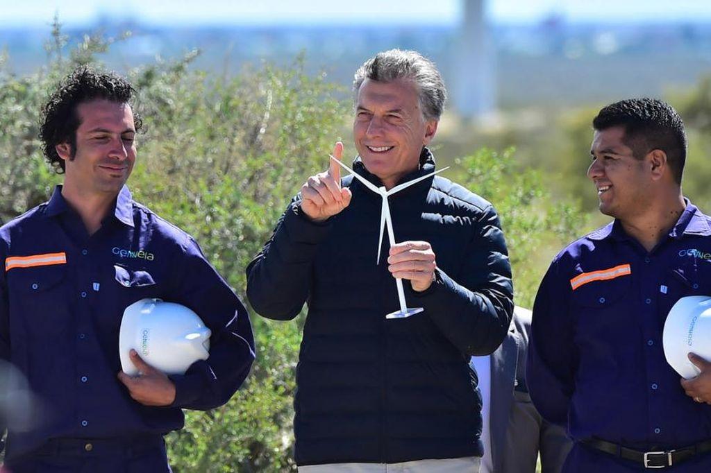 Macri en la inauguración de un parque eólico en Puerto Madryn. <strong>Foto:</strong> Imagen ilustrativa.
