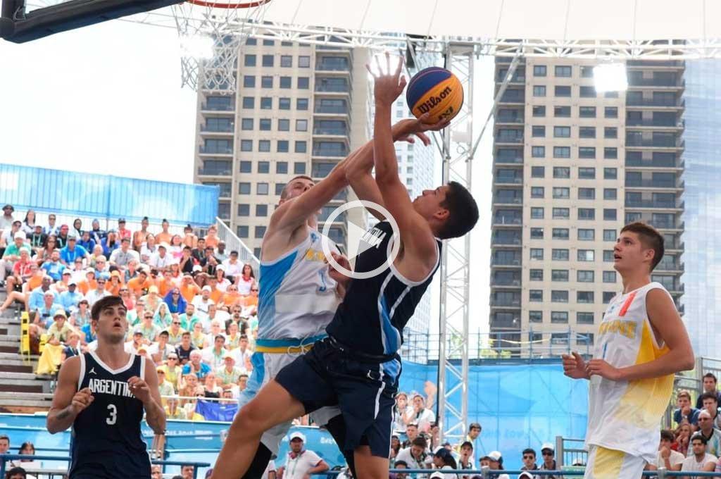 El equipo argentino de básquet 3x3 jugará por el oro