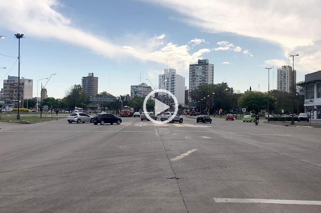 Un corte de luz dejó sin semáforos la avenida Alem
