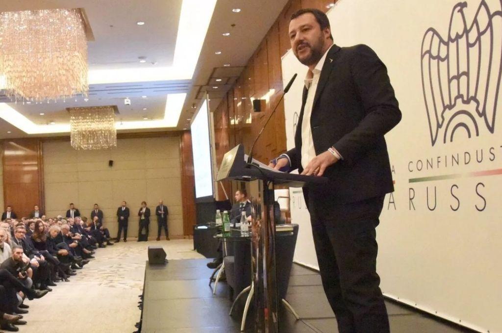 El ministro del Interior italiano, Matteo Salvini. Crédito: