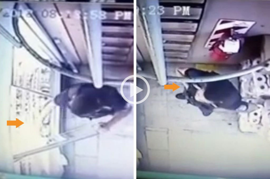 Con cámaras de seguridad, descubrieron a un policía robando en un supermercado