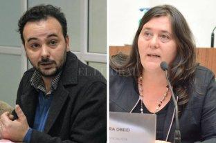 Fin del paro nocturno de colectivos: el Concejo pide informes detallados - Juan Cesoni y Alejandra Obeid, los ediles que realizaron pedido de informes. -