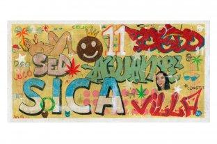 Tres maneras de contar el barrio en la literatura argentina - Daniel García - Sin título, 2018, acrílico sobre tela, 35 x 70 cm -