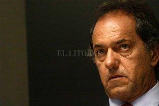 "Scioli: ""voy a ser candidato contra Cristina o contra quien sea"" -  -"