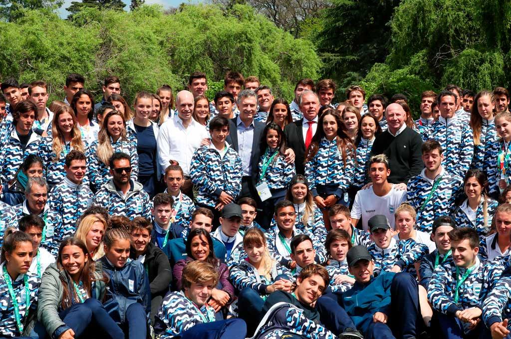 Macri felicitó a los deportistas juveniles olímpicos