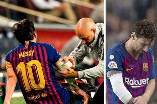 Messi se fracturó un brazo