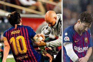 Messi se fracturó un brazo -