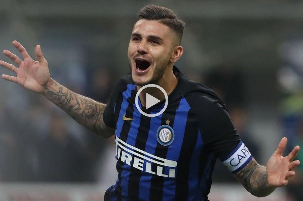 Icardi le dio el agónico triunfo al Inter sobre el Milan