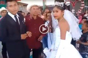 Todo fue tristeza para esta novia en su casamiento